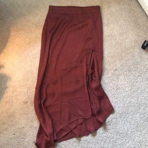 FREE PEOPLE silk skirt